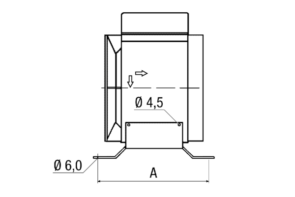 FUM 28 IM0001019.PNG Mounting foot for the assembly of ERM fans on walls, ceilings or brackets, DN 280