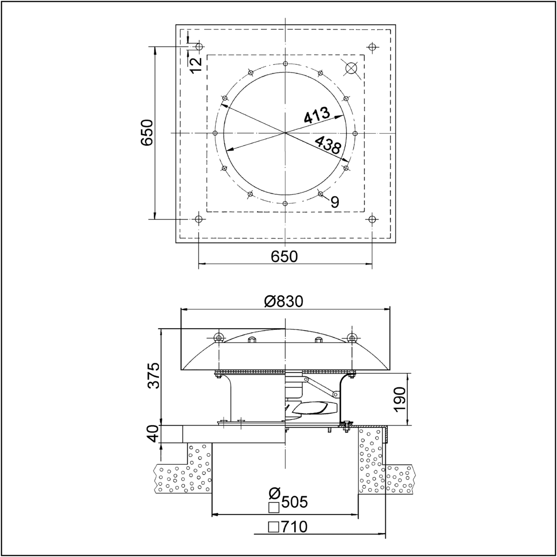 Ezd 40 4 B Maico Alternating Current Diagram The Produced In Im0001621 Axial Roof Fan Horizontal Air Outlet