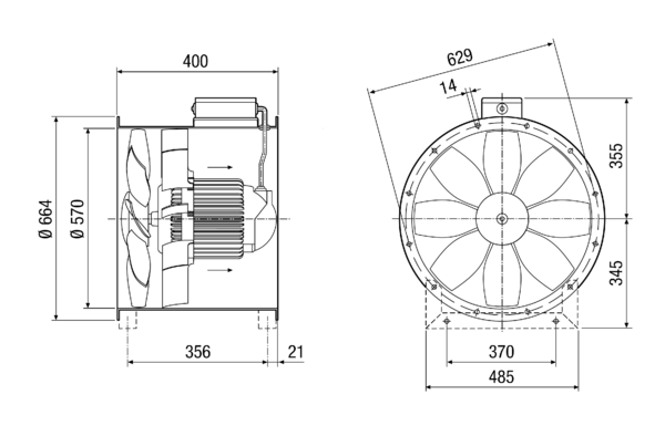 DZL 56/4 B IM0014292.PNG Axial duct fan, DN 560, three-phase AC