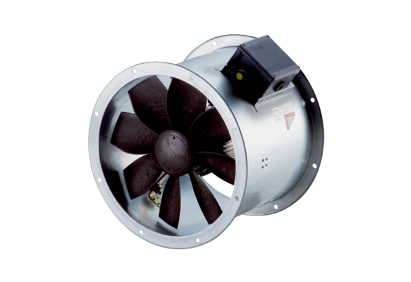 DZR 60/6 B Ex e IM0009991.PNG Axial duct fan, DN 600, three-phase AC, explosion proof