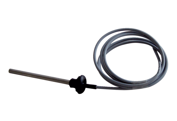 NTC 15 IM0014654.PNG Temperature sensor with grommet for switching off the unit at a supply air temperature below 10 °C when using a warm water register