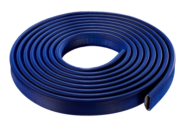 FFS-R52 IM0014735.PNG Flexible plastic oval flat duct with internal duct, maximum volumetric flow 45 m³/h, width x height: approx. 132 x 52 mm, length 20 m