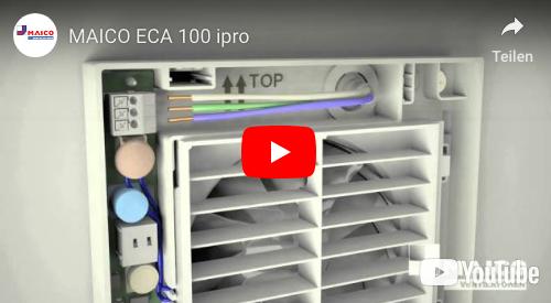 Beliebt Gute Luft im Badezimmer   Badventilator ECA 100 von MAICO DB33