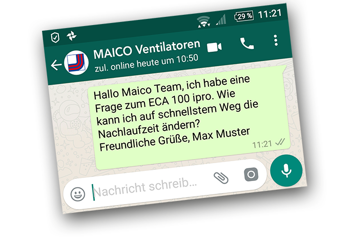 WhatsApp Kunden Service